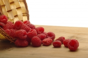 Raspberries from Basket